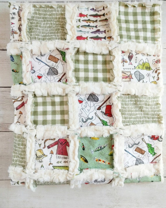 Fishing Quilt Baby Boy Bedding Fishing Baby Bedding