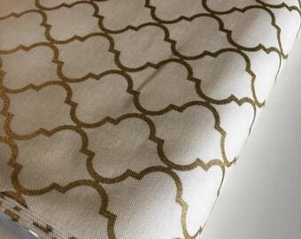 Gold Fabric, Metallic fabric, Nursery Fabric, Modern fabric by Moda fabrics, Gold Tile in Gold, Fabric by the Yard, Boho Fabric