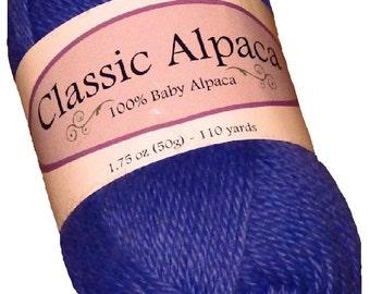 Classic Alpaca 100% Baby Alpaca Yarn #1630 Parrot Purple by The Alpaca Yarn Company - 110 yds per 50g