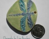 Porcelain Dragonfly Pendant