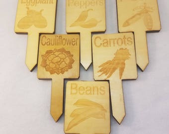 Set of 6 Garden Markers Clearance Ready to Ship