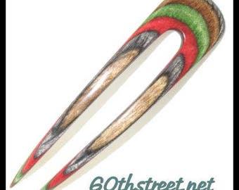 2 Prong 4 inch Daisey Style Hair Fork made of Timberland Dymondwood - 6040DA