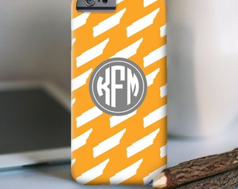 Tennessee iPhone Case - TN iPhone Case - Monogram - iPhone 7 Personalized Case  - Tennessee (Choose your state)  - other models available