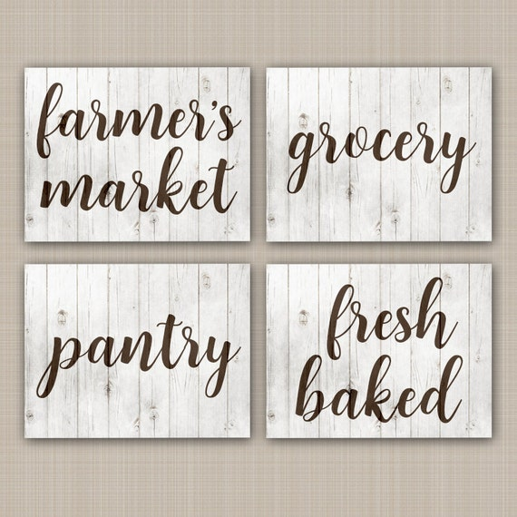Rustic Kitchen Signs: FARMHOUSE Wall Art CANVAS Or Prints Rustic Kitchen Signs