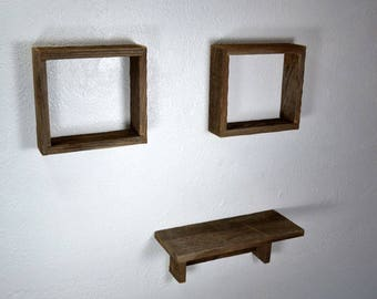 Rustic shelf set of 3 from reclaimed wood