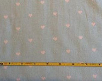 NEW Riley Blake White Hearts on Blue cotton Lycra  knit fabric 1 yard