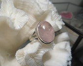 Clear Rose Quartz Ring Size 8.5