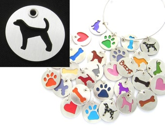 American Fox Hound Sterling Silver Necklace Pendant Charm - Lots of Colors
