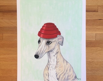 Whippet, Whippet Good - Unframed 8.5x11 Limited Edition Giclee Print