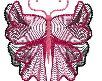 Butterfly  Machine Embroidery Design by Letzrock  3124