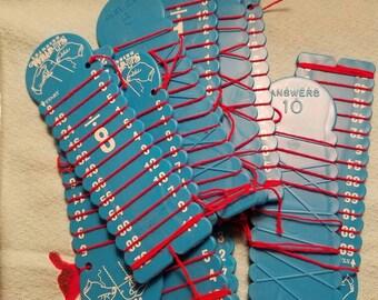 Vintage Math Division Learning Wrap-Ups Set