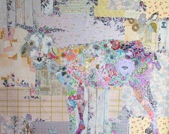 Billie Goat collage pattern by Laura Heine