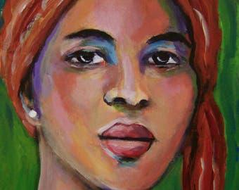 Imani - Original 5 x 7 inch Portrait Painting