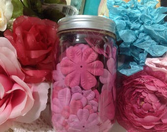 Pink Silk Flower Collection, Pink Flowers, Pink Scrapbook Flowers, Craft Flowers, Shabby