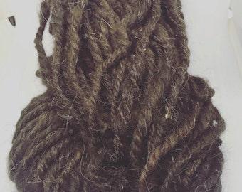 Pure alpaga handspun yarn art yarn for knitting crocheting and weaving