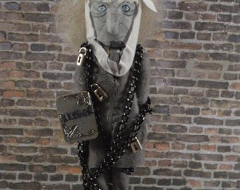 "Ghost of Jacob Marley Charles Dickens Nutcracker 8"" Size Limited Edition One of a Kind"