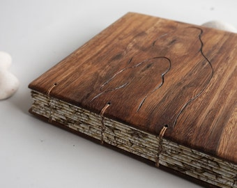 Old Wood  Blank  Notebook Lined recycled