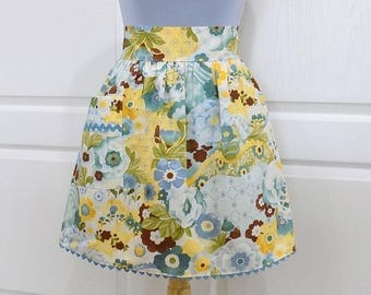 Womens Vintage Style Half Apron Kitchen Waist Aprons with Pocket