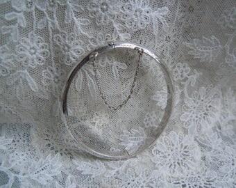 Vintage Silver Engraved Bangle