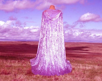 Cloak Cape Lavender Velvet Hooded Wedding Purple Halloween