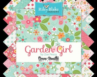 ON SALE Riley Blake Designs Garden Girl by Zoe Pearn Complete FQ Bundle