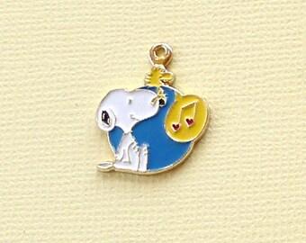 Aviva Vintage Snoopy with Singing Woodstock Yellow Music Version Charm 0144