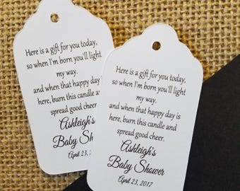 Light the Way favor tag MEDIUM Tags Personalize with names and date Choose your Quantity MEDIUM
