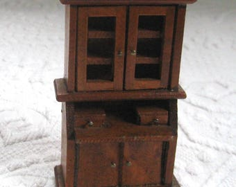 dollhouse secretary . Dollhouse Book Case .  Miniature Book Case . dollhouse furniture . dollhouse furniture
