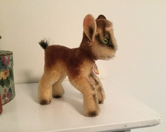 Vintage Steiff Mohair Zicky Goat Antique Toy Chamois