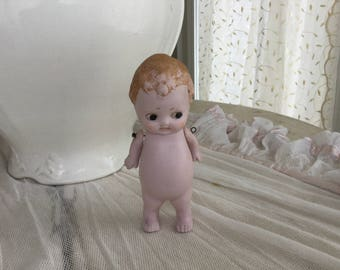 Antique German Tiny Bisque Miniature Doll