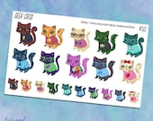 Geek Cats! Planner Stickers