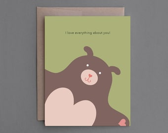 """Funny Valentine Card. For Man, Him, Husband, Boyfriend, Gay Lover. Humor, Naughty, Sexy, Naughty, Mature Adult Card. """"Your Dick"""" (CL002)"""