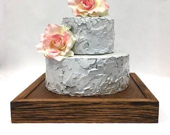 Wedding Cake Stand +Rustic Wedding Cake Stand + Cake Stand +Oak Cake Stand ( 14 x 14)