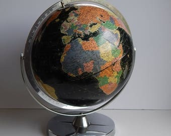 1960s Black Replogle 12 Inch Starlight Globe