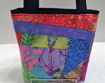African Patchwork, Tote Bag, Gift Wrap, Reusable, Wrapping Paper, Quilted Gift Bag, Holiday Gift Wrap, Birthday, OOAK