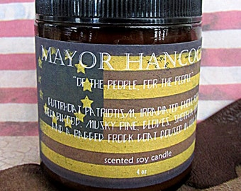 Mayor Hancock Fallout scented 4 ounce soy candle