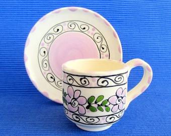 Light Lavender Espresso Cup and Saucer