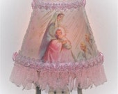For dollmyra1 Nativity Mary and Jesus Pink NIGHT LIGHT Christmas Holiday