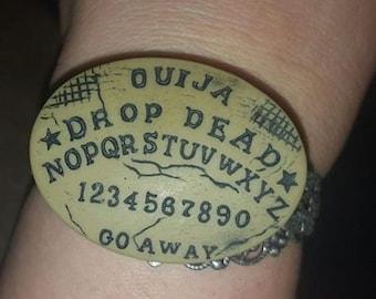 Ouija, Ouija board, Ouija cuff, Witch, Horror, Horror movie, Horror cuff, Ready to ship, MsFormaldehyde