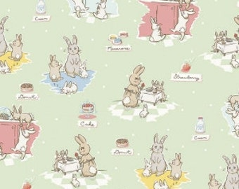 Bunnies and Cream, By Lauren Nash Bunnies Main Mint C6020-MINT