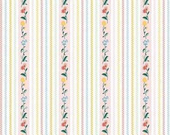 Bunnies and Cream, By Lauren Nash Bunnies Stripe Pink C6023-Pink