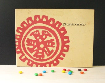 Floricanto. Chicano Poems in Spanish and English. Vintage 1970s poetry book by Alurista.