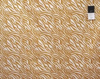 SALE Camelot Fabrics Black & Tan Zebra Tan Cotton Quilting Fabric By Yard