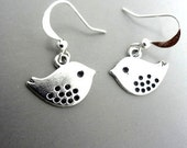 Bird Earrings Silver Bird Earrings, Dangle Earrings, Dangle Earrings Birds Earrings