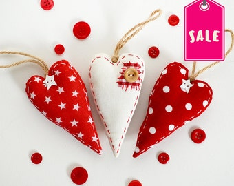 Valentines Heart Decorations, Christmas Heart Decorations, Hanging Hearts, Christmas Tree Decorations, Xmas Decorations, Christmas Ornaments