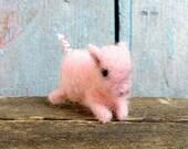 Reserved for Patsy TINY Pig Adorable Baby Piggy Miniature Piglet Farm Animals Needle Felted Birthday Lovinclaydolls Lisa Haldeman Doll