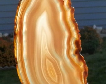 SC-271   Large Agate Suncatcher Hand Crafted Agate Window Art