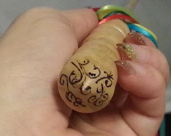 WOODBURn Add-on Magic WAND CUSTOM MEDIUM Embellishment, Pagan, Wicca, Fairy, Wizard