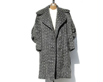 Vintage Dark Gray Wool Coat