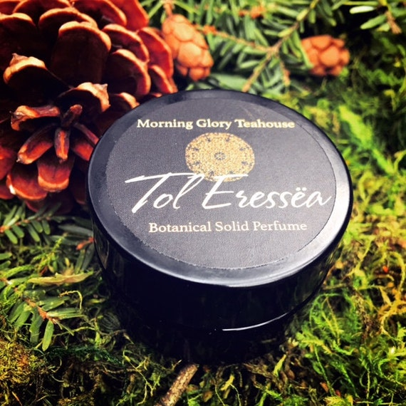 Tol Eressëa Botanical Solid Perfume ~  enchanting Forest Isle of balsamic evergreens with sweet honeyed resin, spice notes and damp earth